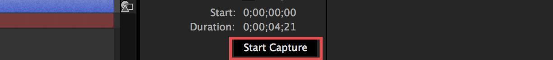 Start Capture Button